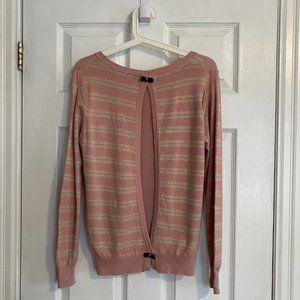 JS Millenium Pink Striped Back Cut-Out Sweater